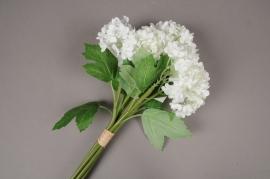 x346mi Bunch of white artificial hydrangea H27cm