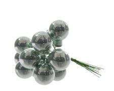 X348KI Boîte de 144 boules verre eucalyptus D20mm