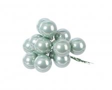 X351KI Boîte de 144 boules verre eucalyptus D25mm
