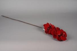 x351mi Branche de phalaenopsis artificiel rouge H85cm