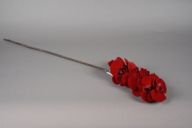 x351mi Red artificial phalaenopsis branch H85cm