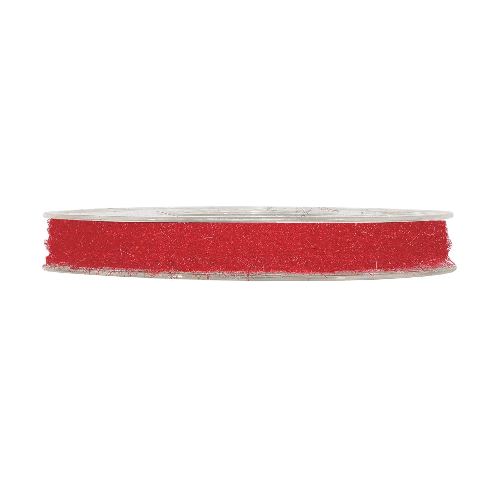 X352UN Ruban en laine rouge 6mm x 10m