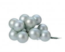 X354KI Boîte de 144 boules verre eucalyptus D25mm