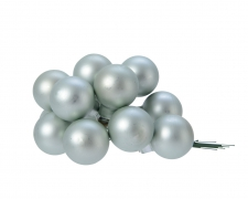 X354KI Box of 144 eucalyptus glass balls D25mm