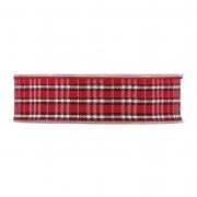 X356UN Ruban en tissu écossais rouge 25mm x 15m