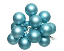 X362KI Boîte de 144 boules verre bleu arctique D20mm