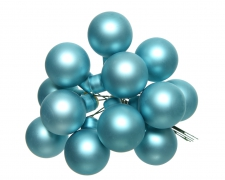 X362KI Box of 144 arctic blue glass balls D20mm