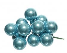 X363KI Boîte de 144 boules verre bleu arctique D25mm