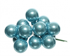 X363KI Box of 144 arctic blue glass balls D25mm