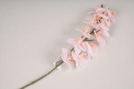 x369fd Branche de phalaenopsis artificiel rose H58cm