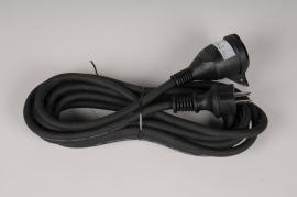 X372KI Rallonge électrique étanche noir L5m