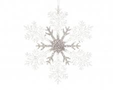 X382KI Clear silver snowflake D21cm