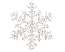 X393KITransparent pvc snowflake D18cm