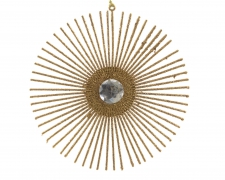 X397KI Gold glitter disc D15cm