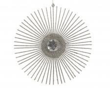X400KI Silver glitter disc D15cm