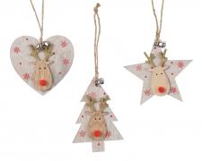 X405KI Hanging heart / christmas tree / star 10cm x 9.5cm