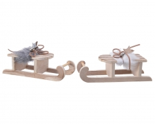 X408KILuge en bois blanc et gris assortie H4cm