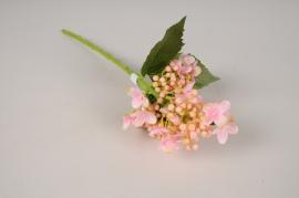 x409ee Hortensia artificiel rose H38cm