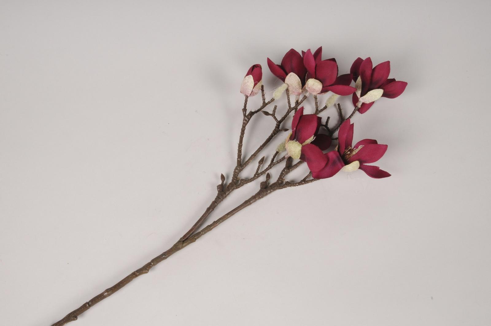 x421ee Magnolia artificiel prune H65cm