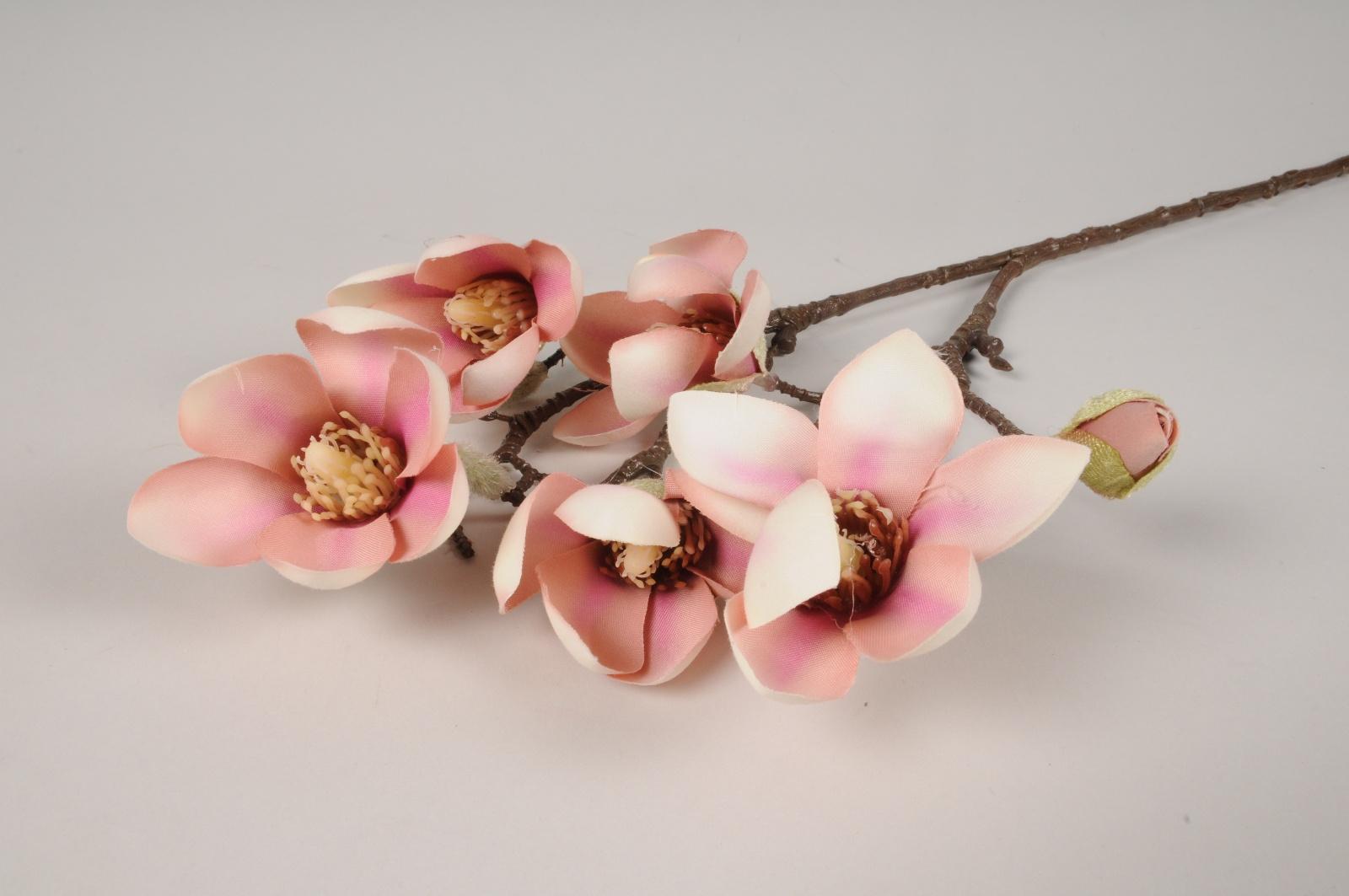 x422ee Magnolia artificiel saumon H65cm