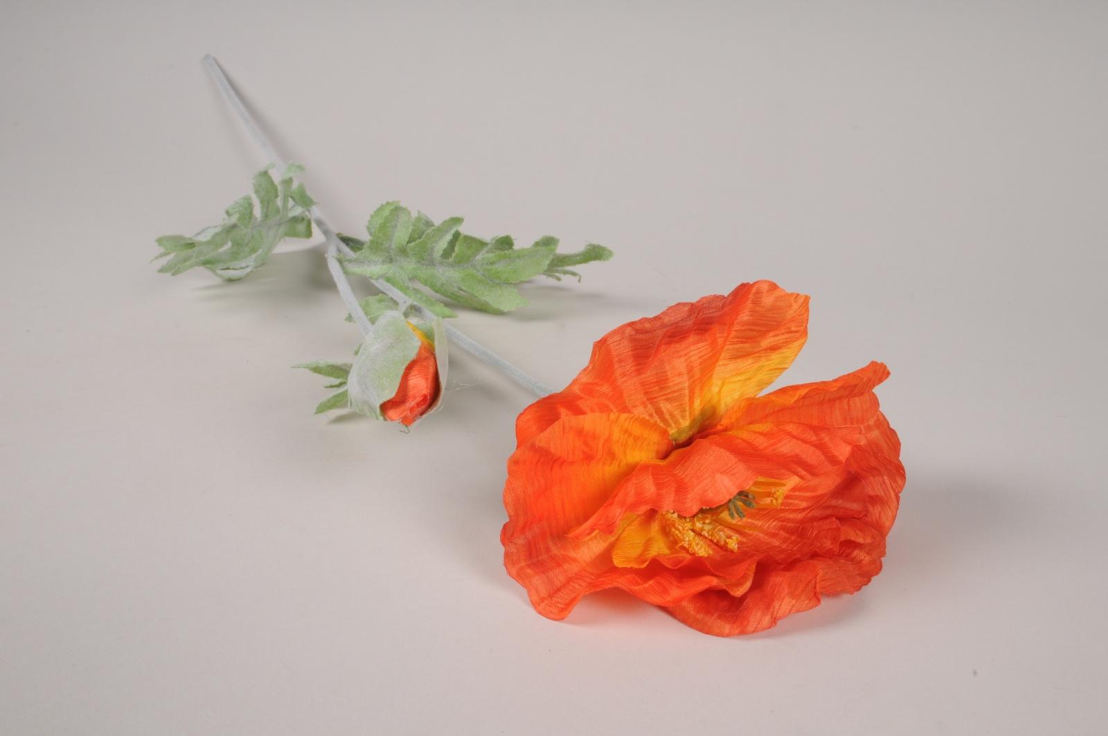 x428ee Coquelicot artificiel orange H72cm