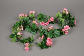 x442mi Garland of artificial pink rose 170cm
