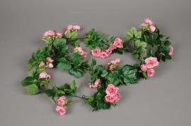 x442mi Garland of artificial pink rose 170cm