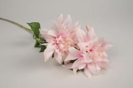 x454ee Dahlia artificiel rose H70cm