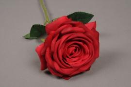 x454mi Rose artificielle rouge H50cm
