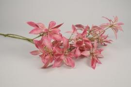 x461ee Rhododendron artificiel fuchsia H107cm