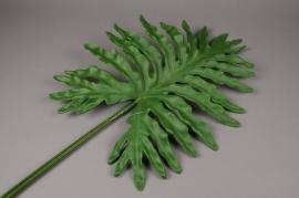 x468di Feuille atificielle de monstera vert H117cm