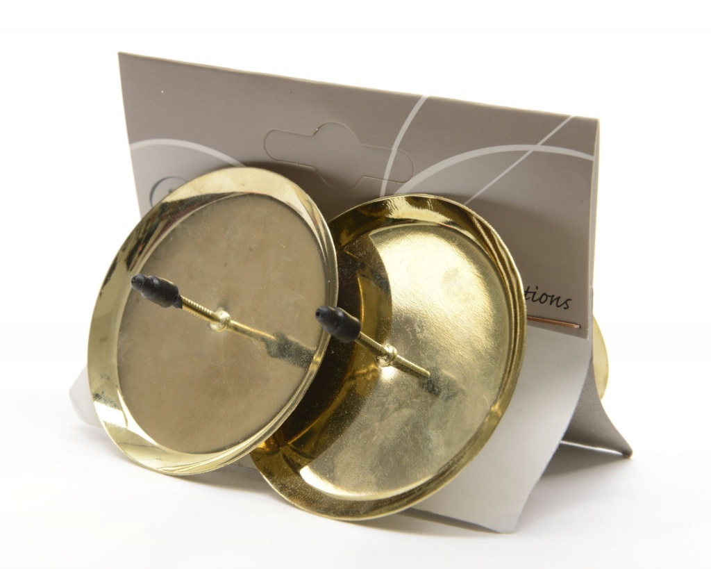 X471KI Set of 6 Advent metal light holders gold diameter 6cm