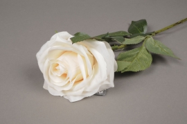 x473nn Artificial cream rose H64cm