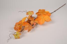 x474ee Vigne vierge artificielle orange H75cm