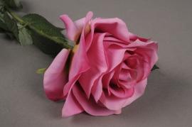 x478nn Artificial pink rose H64cm