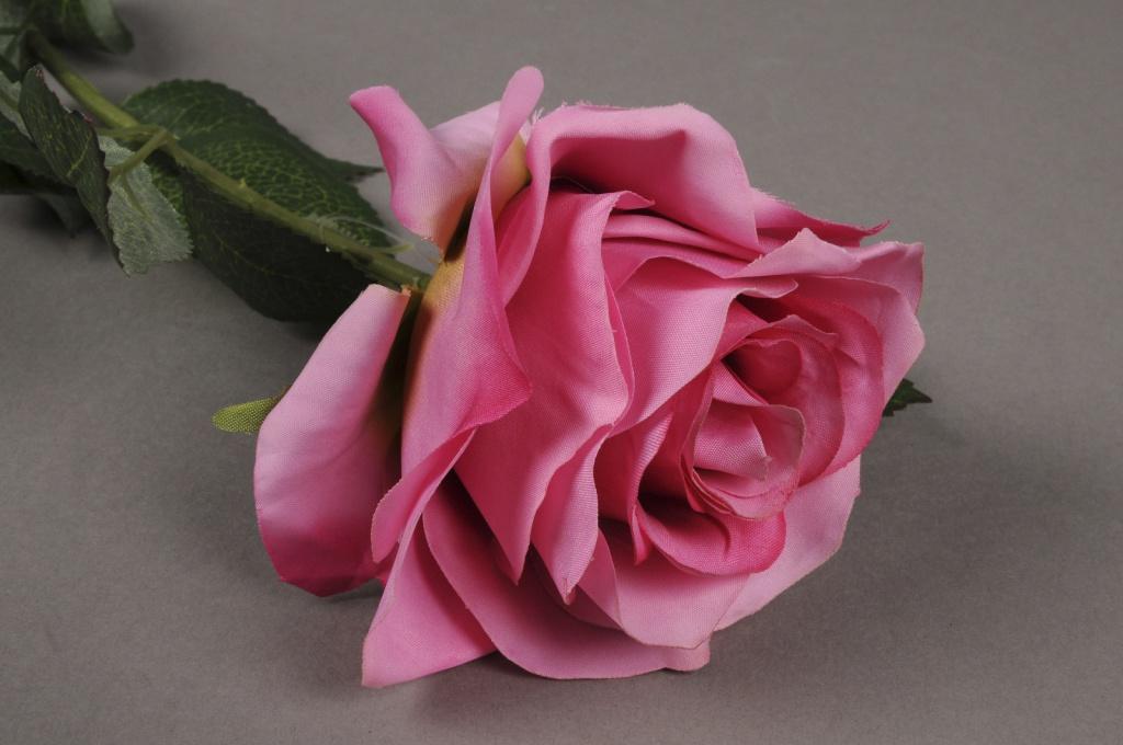 x478nn Rose artificielle rose H64cm