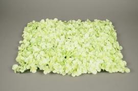 x492mi Plaque d'hortensia artficiel vert 40x60cm
