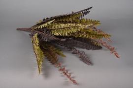 x506mi Piquet de fougère artificielle brune verte H50cm