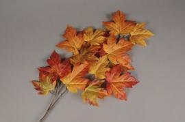 x520di Branche d'érable artificielle orange H90cm
