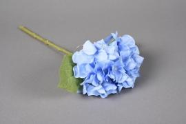 x521mi Hortensia artificiel bleu H33cm