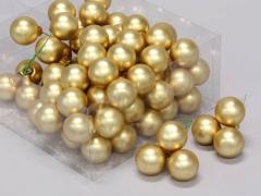 X524KI Boîte de 144 boules verre or D20mm