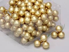 X525KI Boîte de 144 boules en verre or mat D25mm