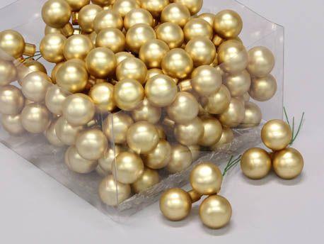 X525KI Box of 144 matte gold glass balls D25mm
