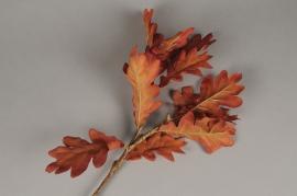 x532di Branche de chêne artificiel rouge H65cm