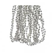 X537KI Guirlande perles argent D5mm L270cm