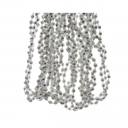 X537KI Silver plastic beads garland D5mm L270cm