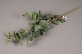 x540jp Branche d'eucalyptus artificiel vert H88cm