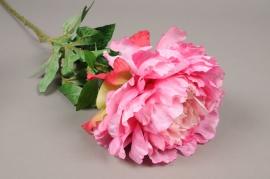 x555jp Pivoine artificielle rose H81cm