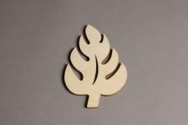 x558mi Sachet de 10 feuilles en bois H15cm