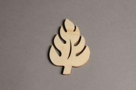 x559mi Sachet de 10 feuilles en bois H10cm